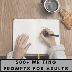 500 + writing prompts for adults
