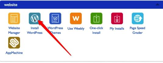 Click on WordPress Icon