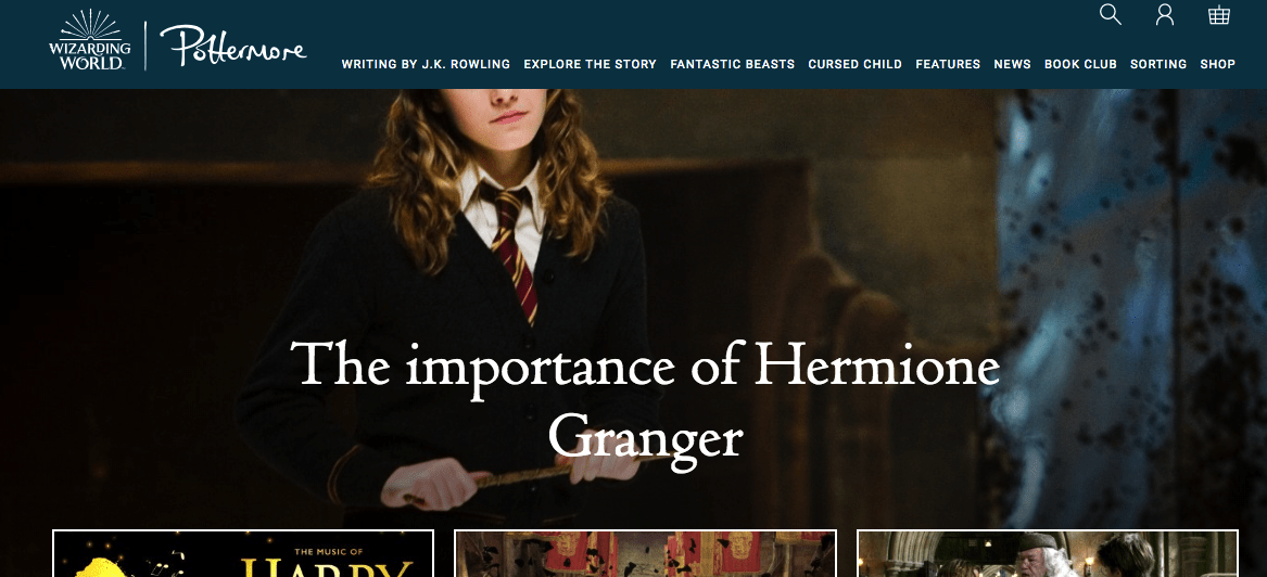 J.k. Rowling Site Example